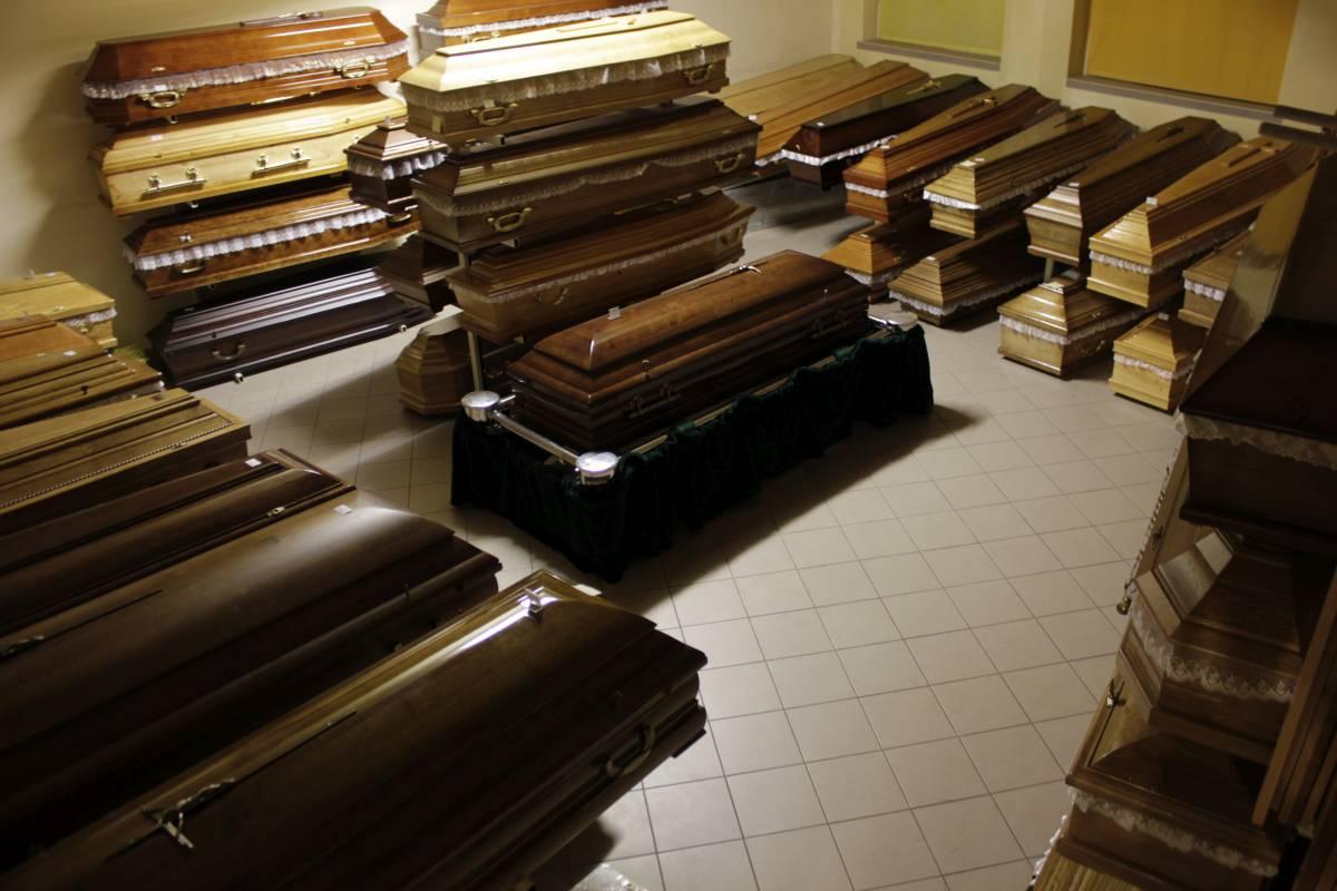 Trumny z domu pogrzebowego