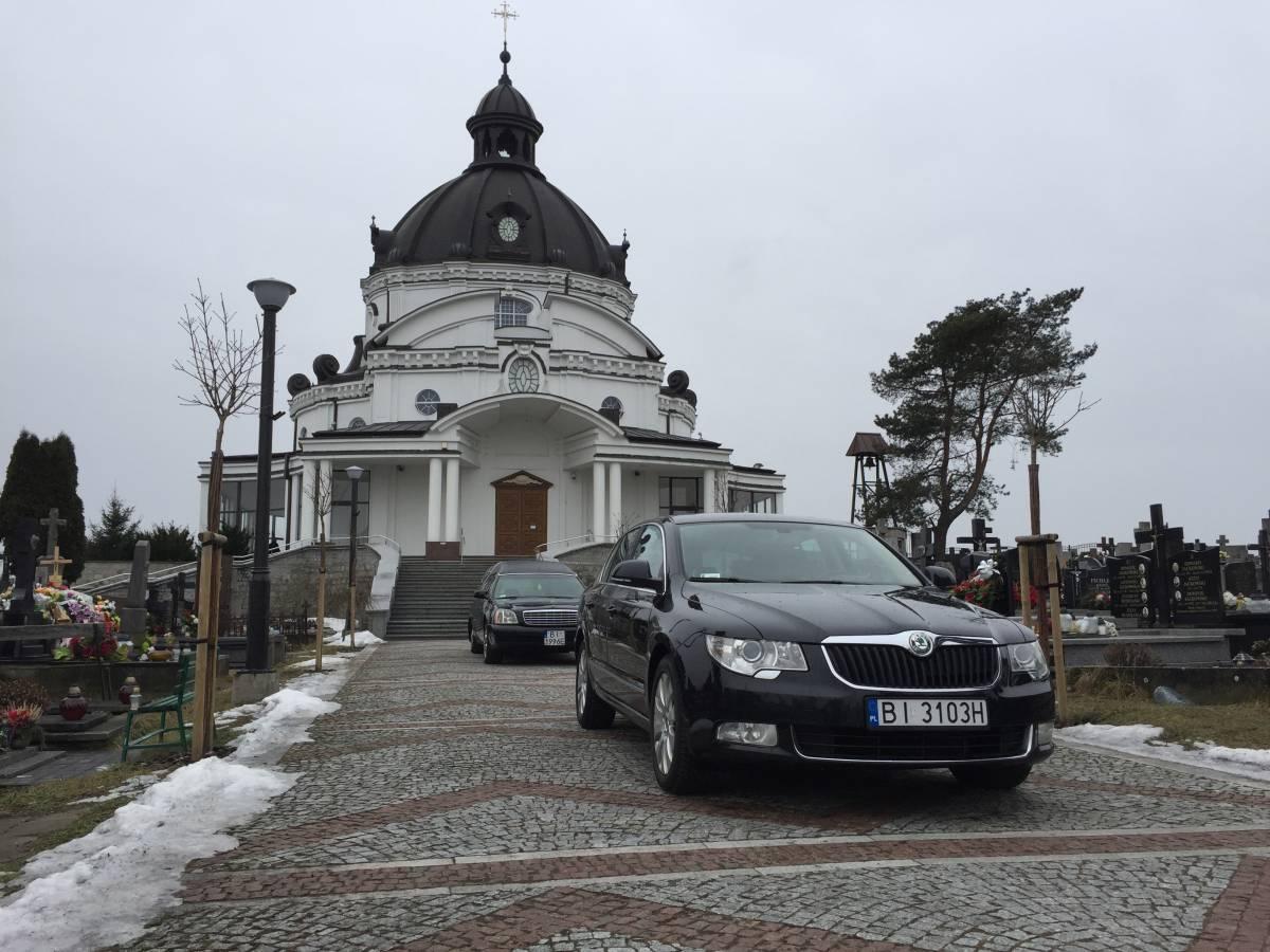 Wypowadzenie z centrum pogrzebowego w Białymstoku