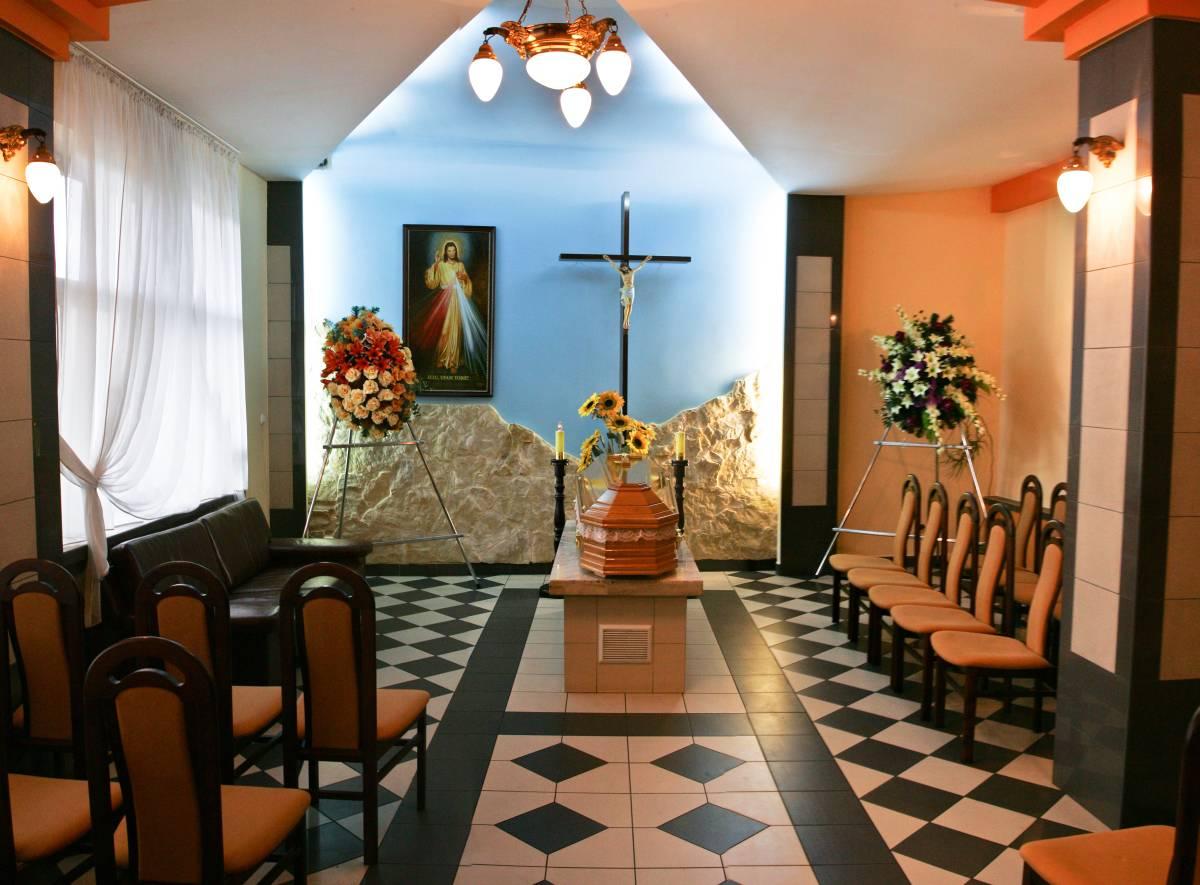 Kaplica w centrum pogrzebowym