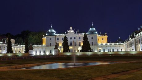 Pałac Branickich Białystok nocą