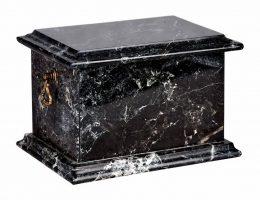 Prostokątna czarna urny na prochy Białystok