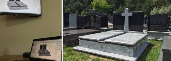 Projekt pomnika pogrzebowego Białystok