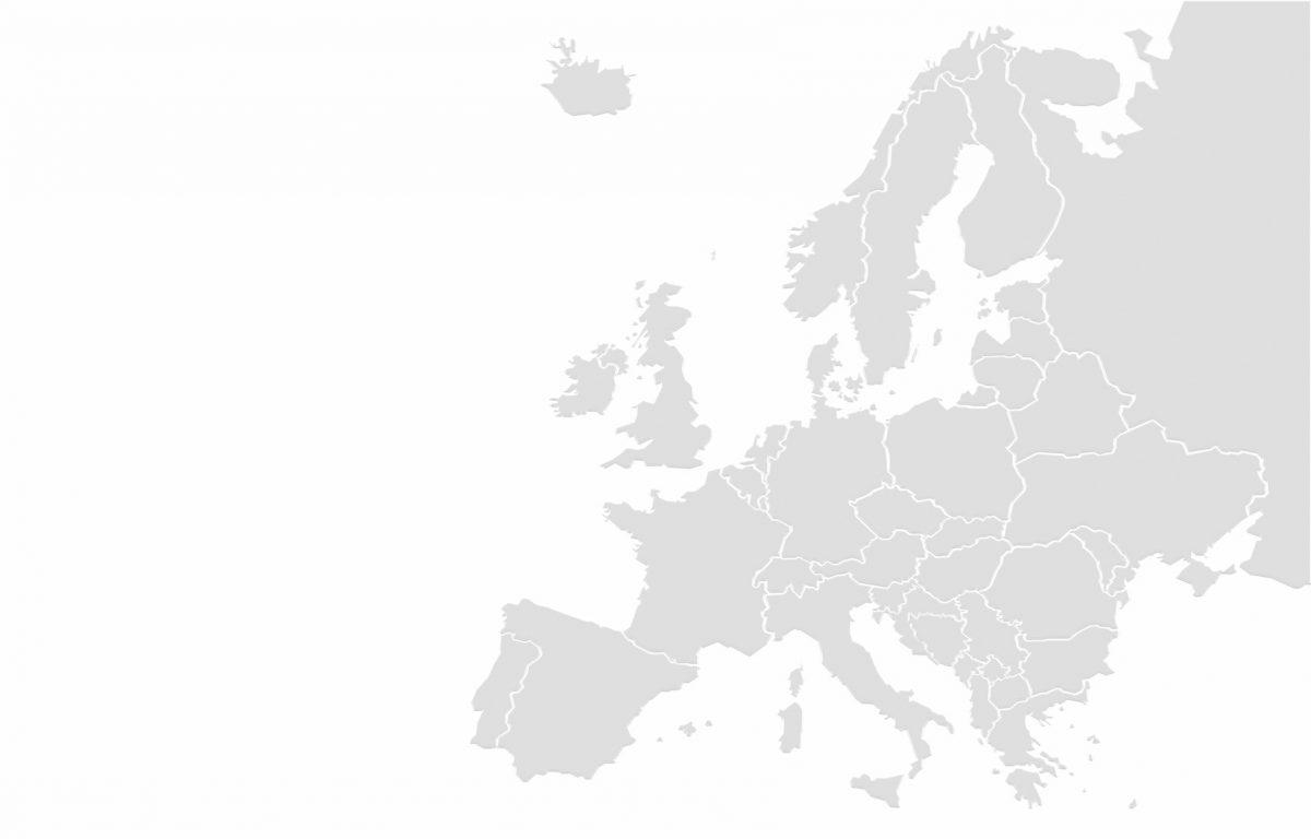 Mapa Europy - statystyki kremacji